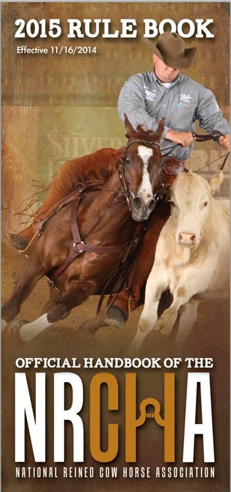 2015 NRCHA Rulebook cover